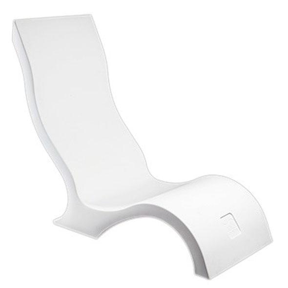 Ledge Lounger Chair - White