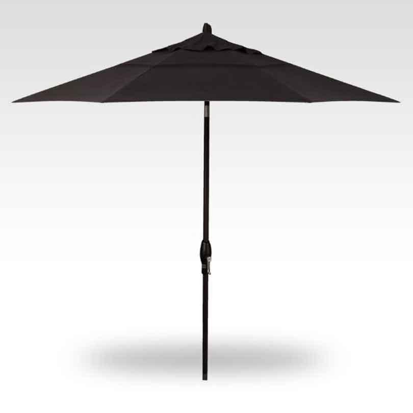 9' Auto Tilt Market Umbrella - Black