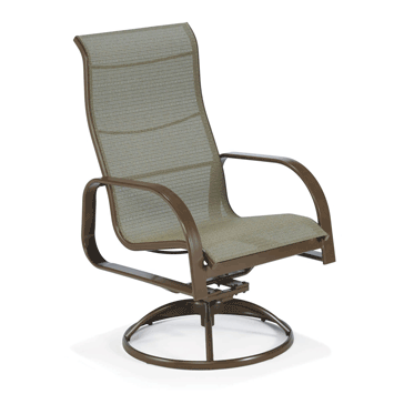 Seagrove II Sling Swivel Chair - Stack Stone