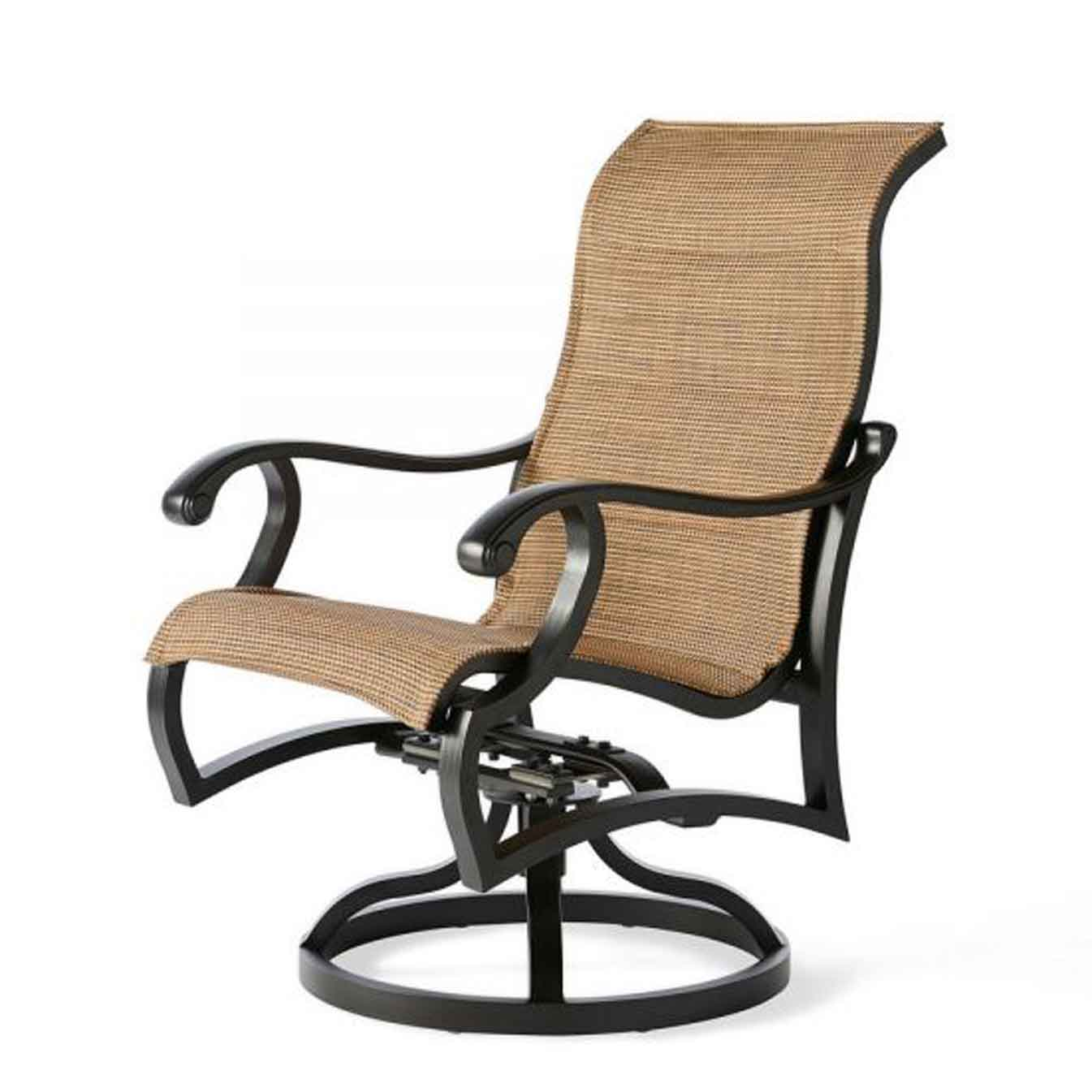 Volare Padded Sling Swivel Dining Chair