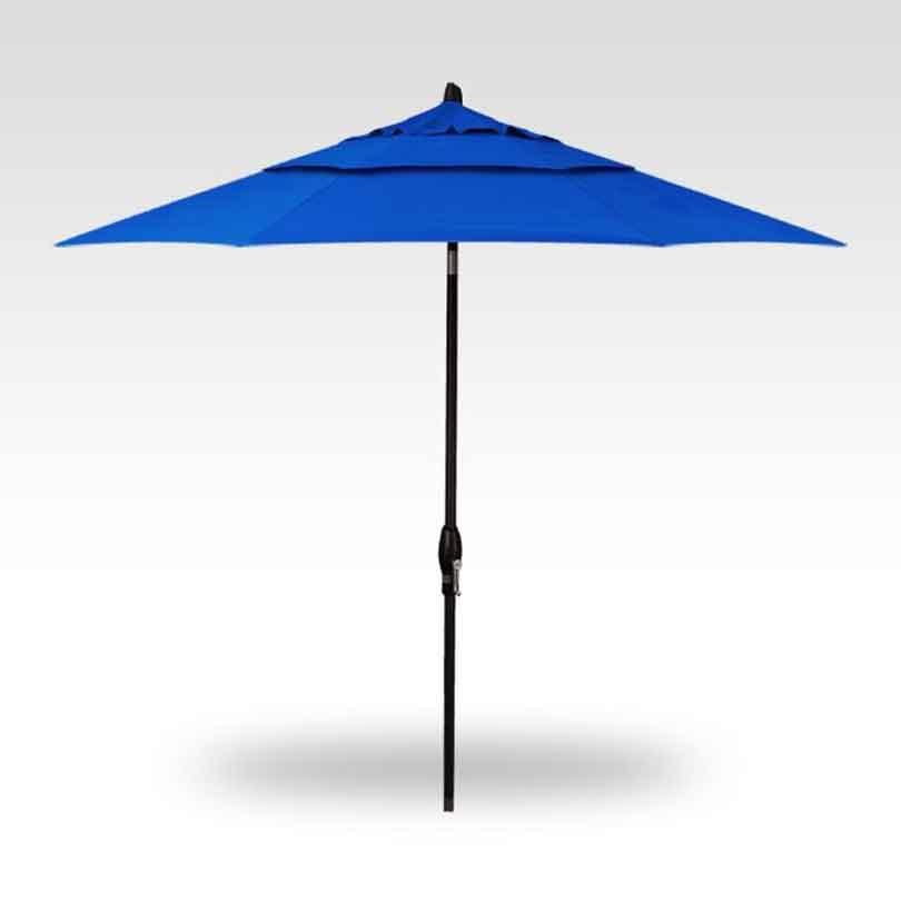 9' Auto Tilt Market Umbrella - Pacific Blue/Bronze