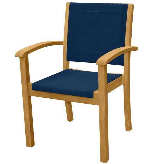 Riviera Sling Stacking Dining Chair
