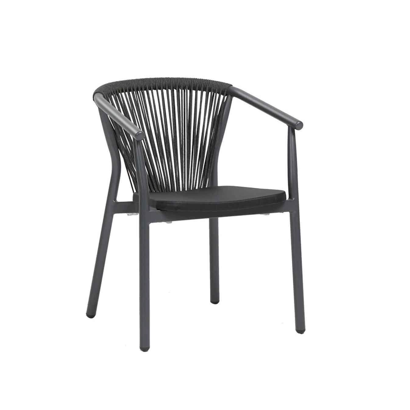 Trinity Dining Arm Chair - Black