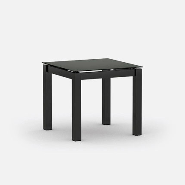 Mode Square End Table - Carbon & Storm