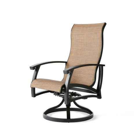 Georgetown Sling Swivel Rocker Dining Chair