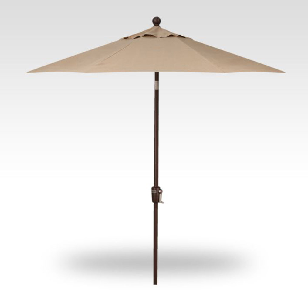 7.5' Push Button Tilt Market Umbrella - Heather Beige