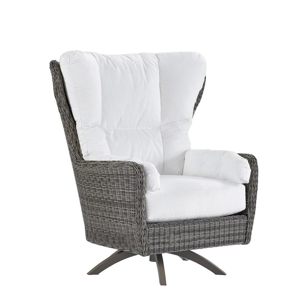 Cocoon Cushion Highback Swivel Chair - Vesper Pebble