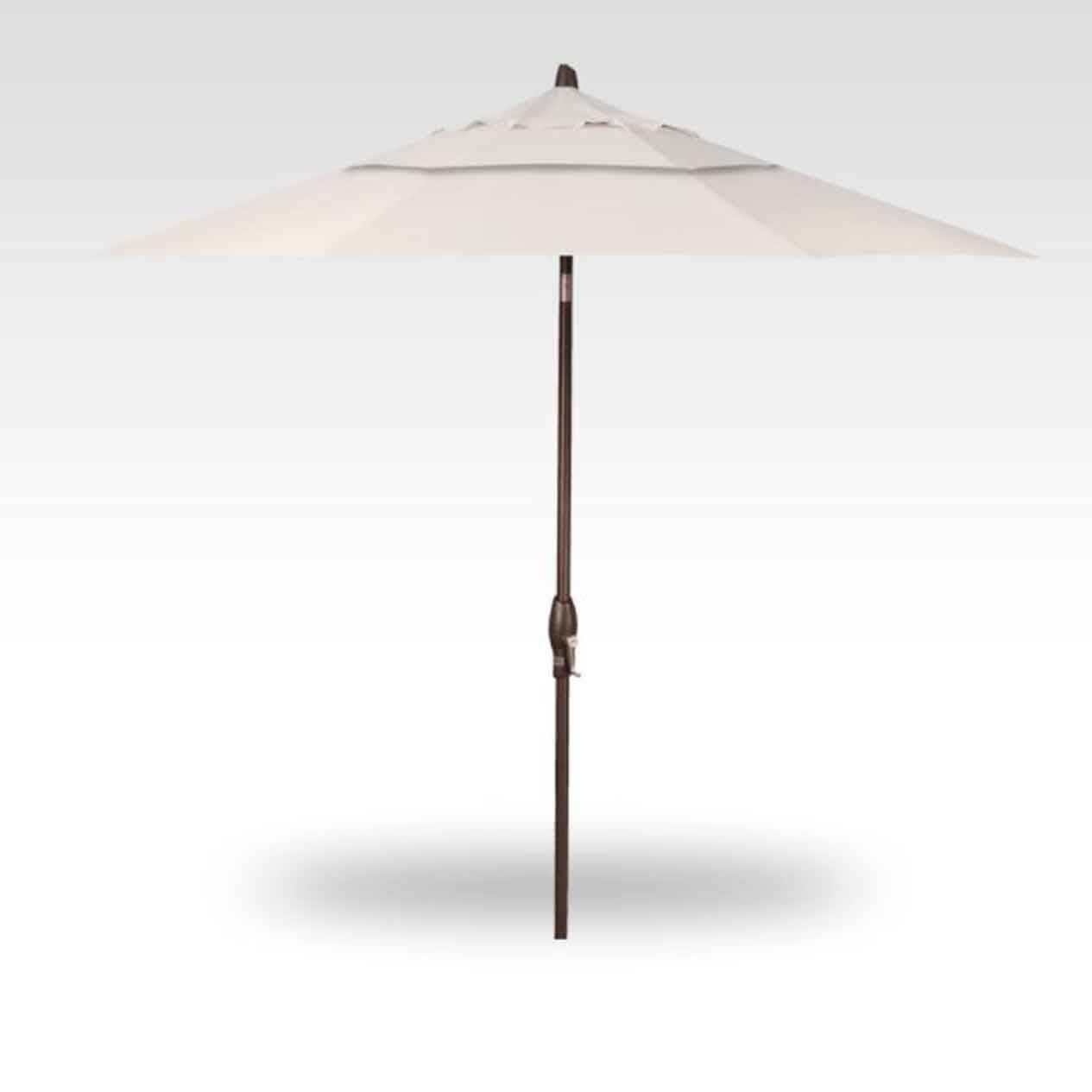 9' Auto Tilt Market Umbrella - Canvas Canvas
