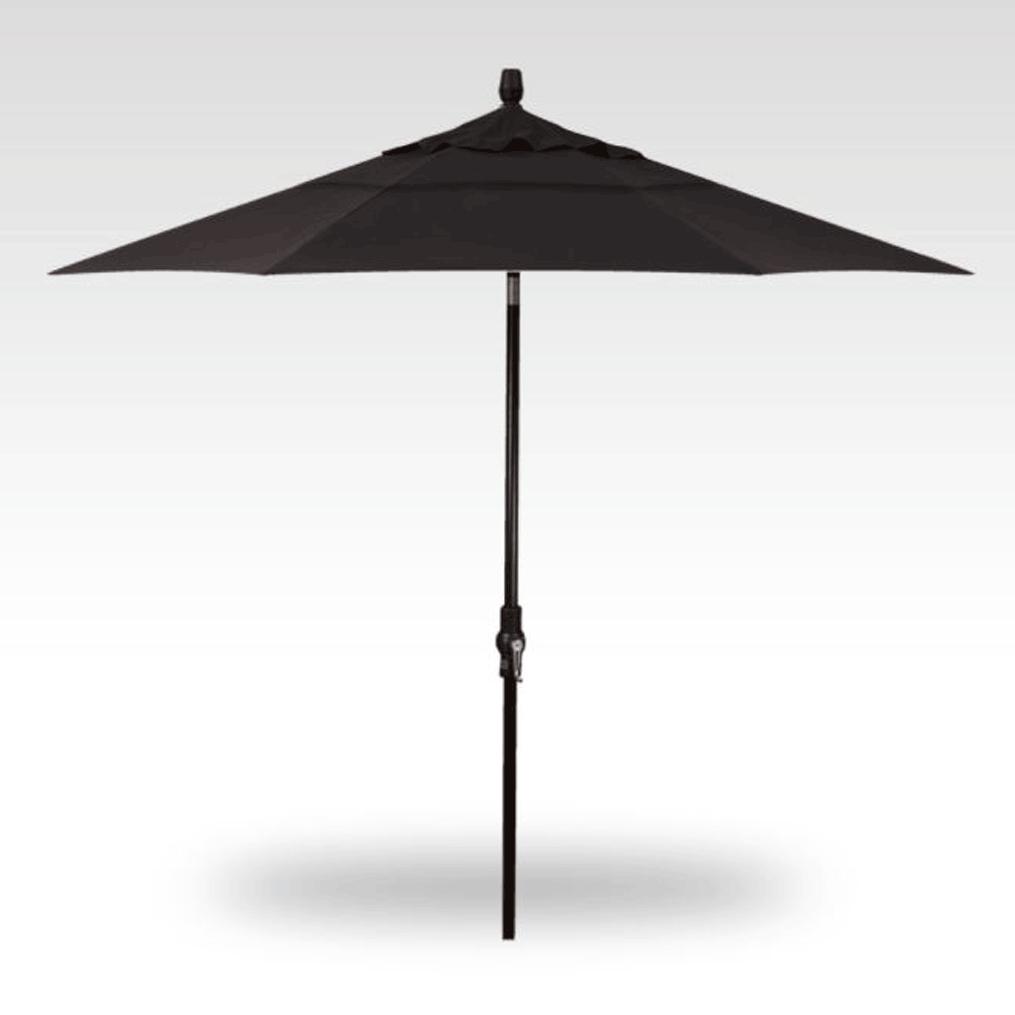 9' Starlux Collar Tilt Umbrella - Black