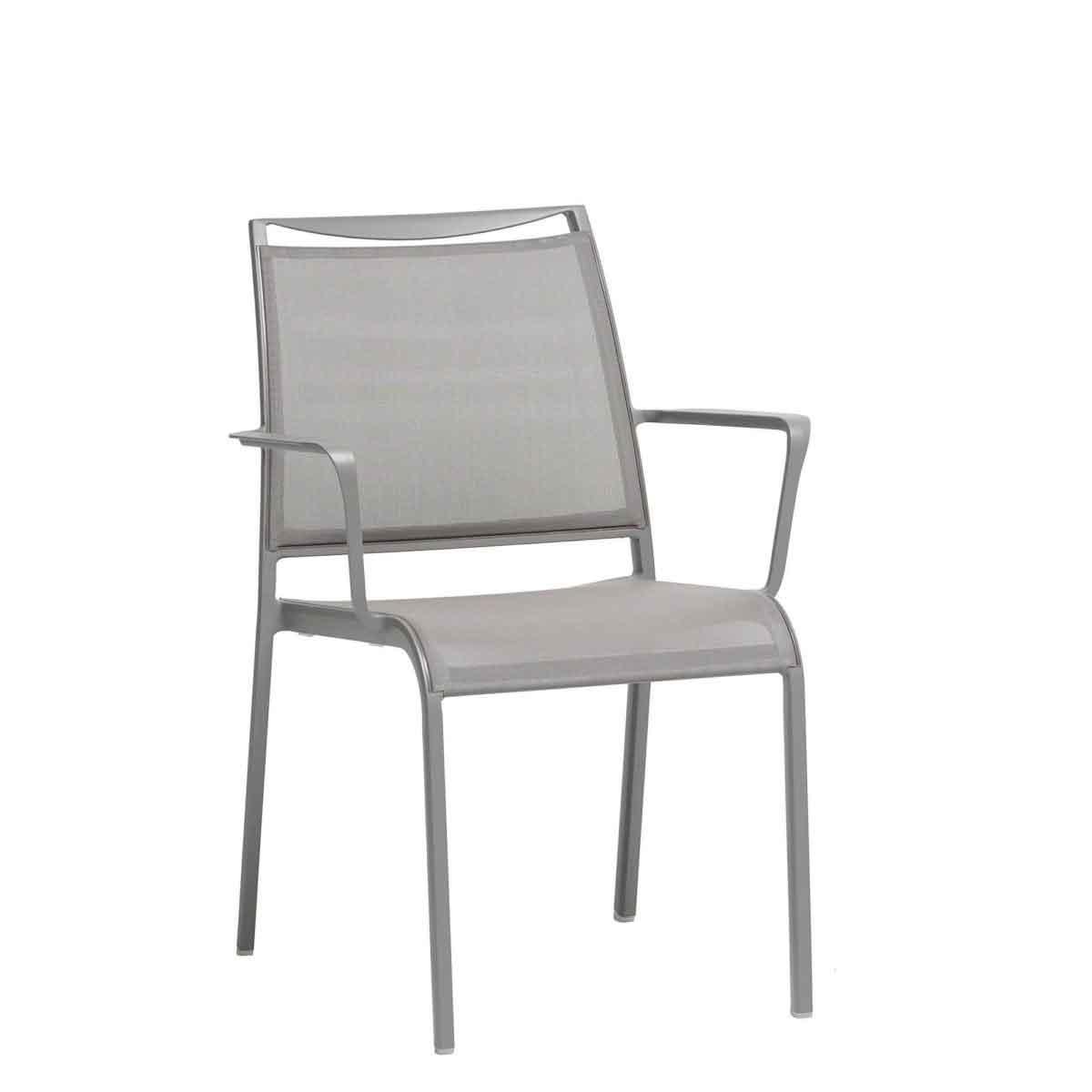 Como Sling Dining Chair - Grey