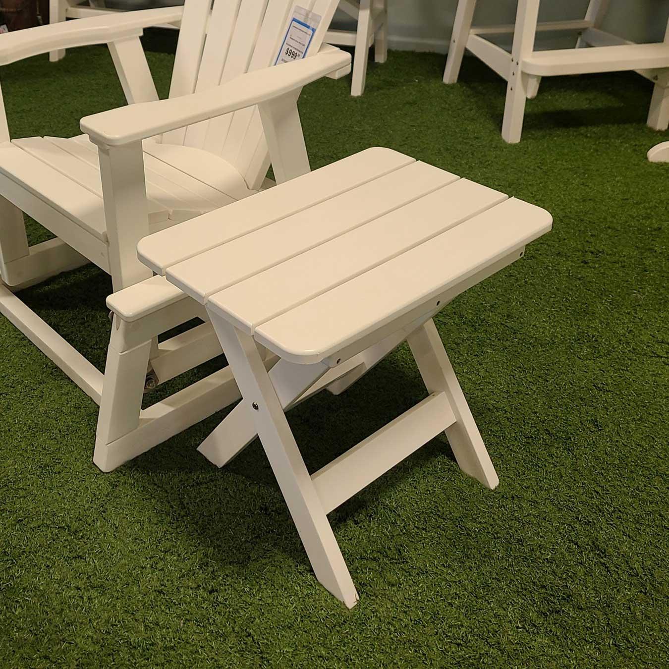 White Folding End Table