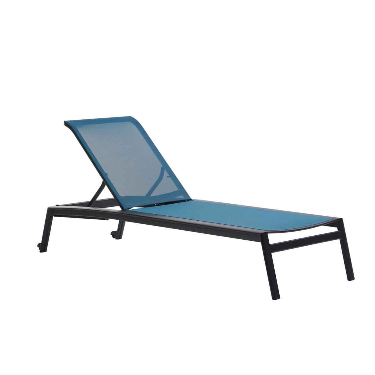 Lyon Sling Armless Chaise - Peacock