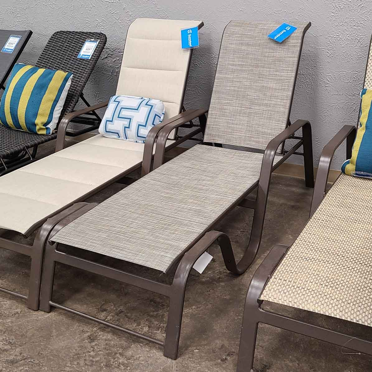 Seagrove II Sling Stackable Chaise - Stack Stone