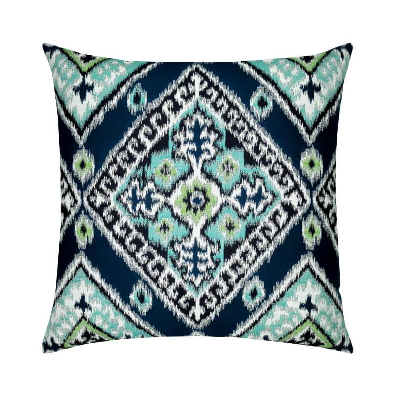 Ikat Diamond Peacock Pillow