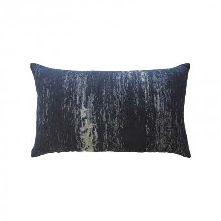 Distressed Indigo Lumbar Pillow