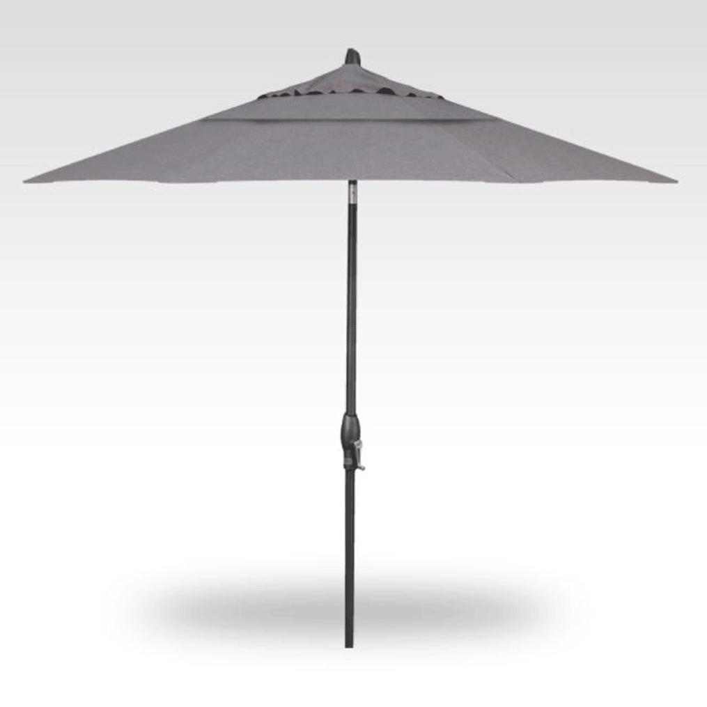 9' Auto Tilt Market Umbrella - Bliss Pebble