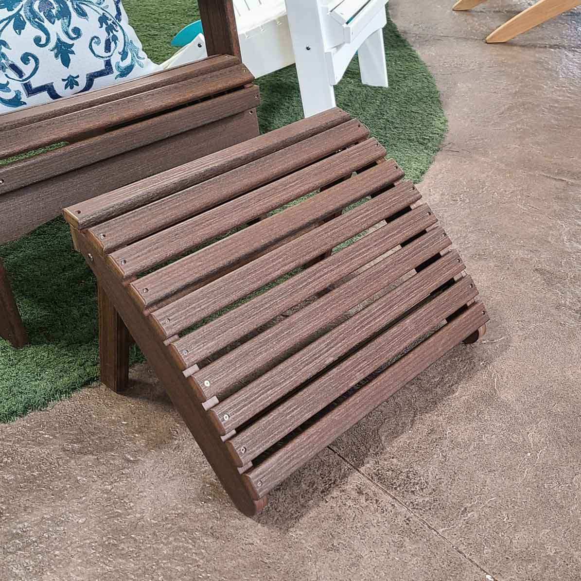 Walnut Folding Adirondack Footstool