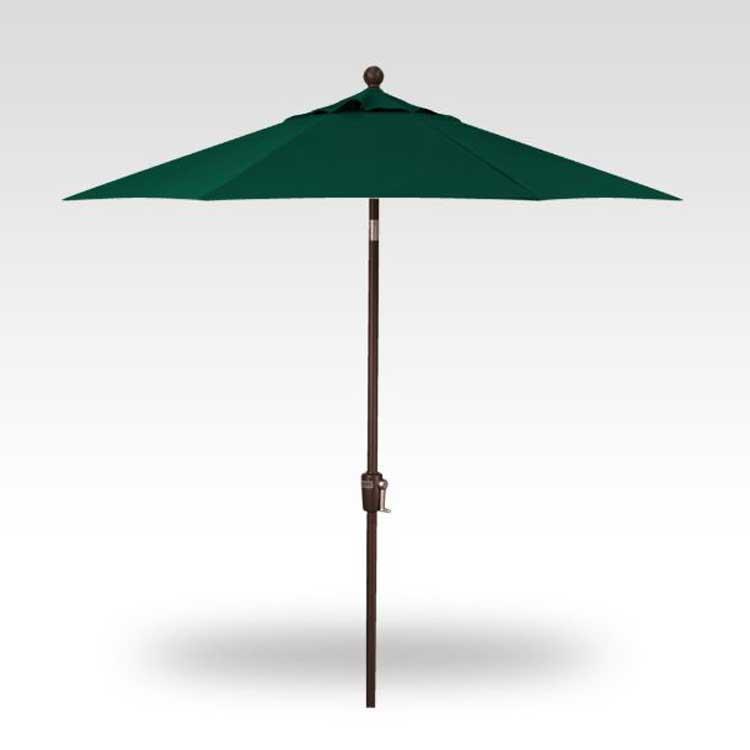 7.5' Push-Button Tilt Market Umbrella - Forest Green