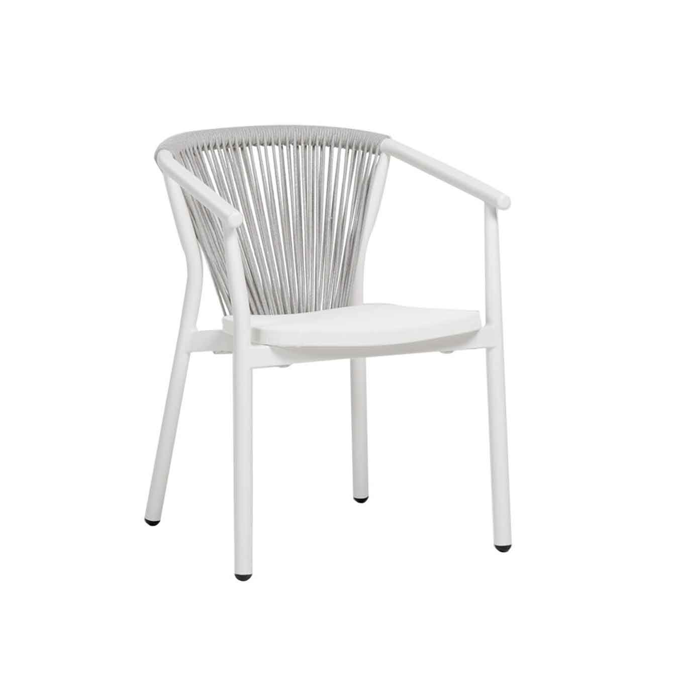 Trinity Dining Arm Chair - White