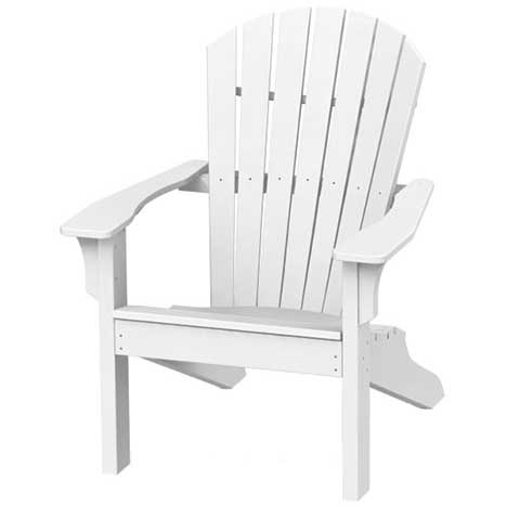 Adirondack Shell Back Chair - White