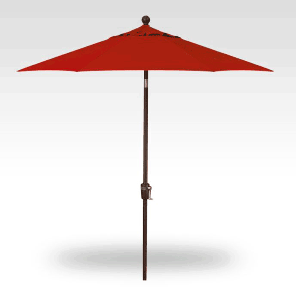 7.5' Push Button Tilt Market Umbrella - Jockey Red