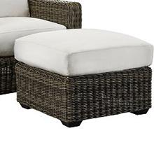 Oasis Cushion Ottoman - Vesper Pebble