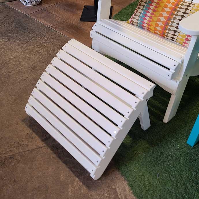 White Folding Adirondack Footstool