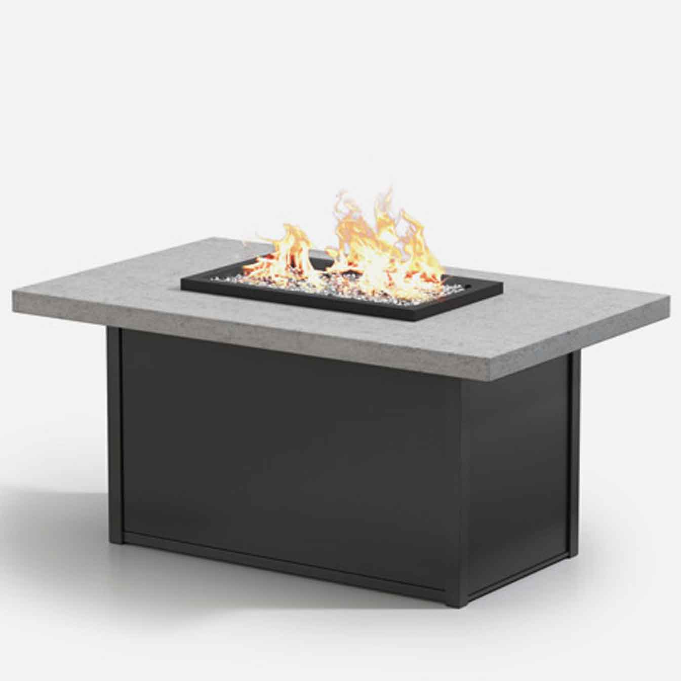 Aurora Rectangle Chat Fire Pit