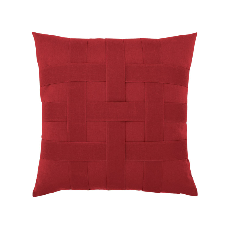 Basketweave Rouge Pillow