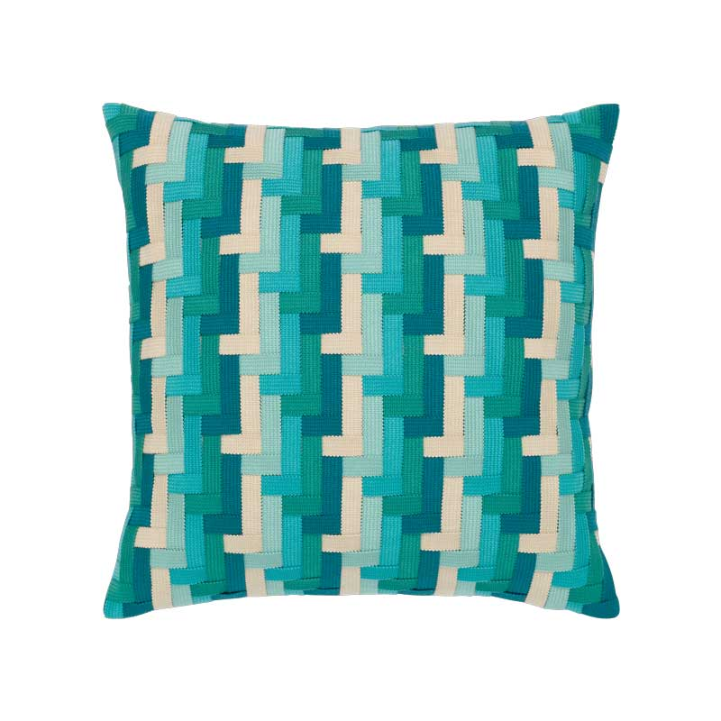 Aqua Basketweave Pillow