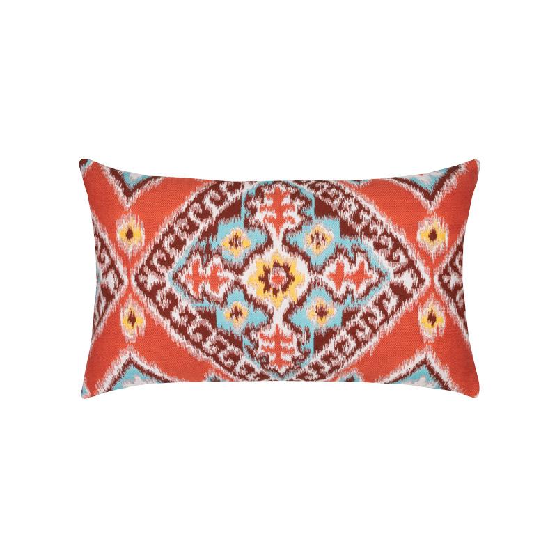 Ikat Diamond Flame Lumbar Pillow
