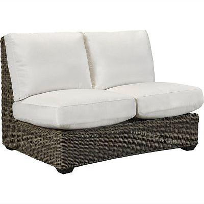 Oasis Cushion Armless Loveseat - Vesper Pebble