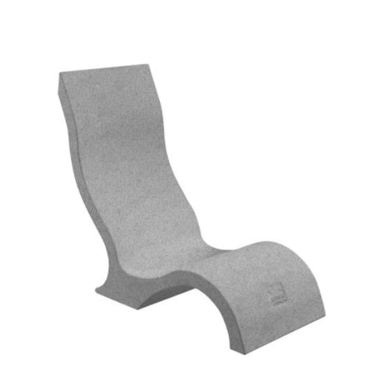 Ledge Lounger In-Pool Chair - Granite Gray