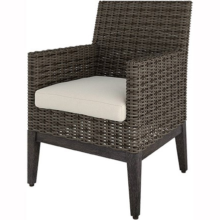 Remy Woven Cushion Arm Dining Chair