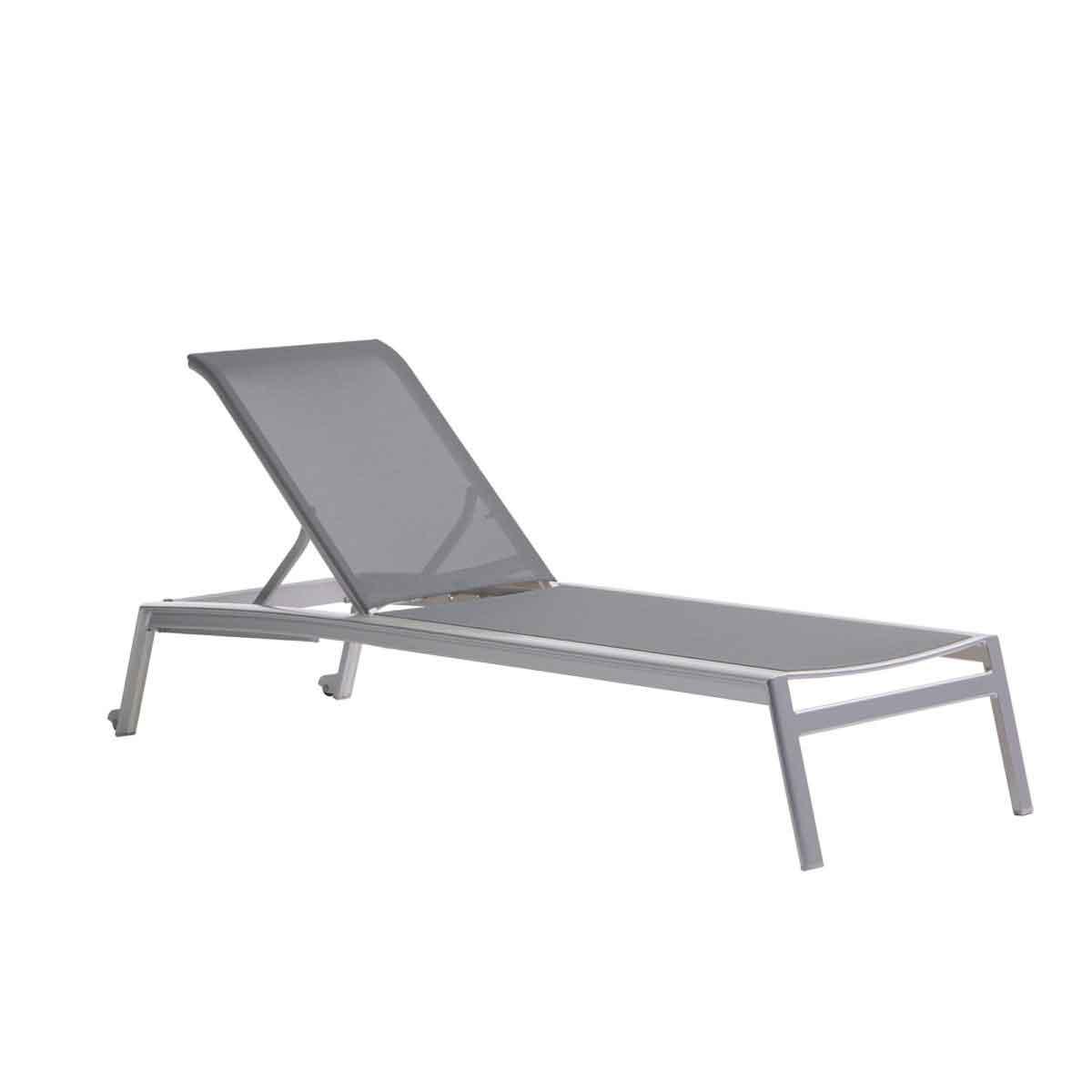 Lyon Sling Armless Chaise - Grey
