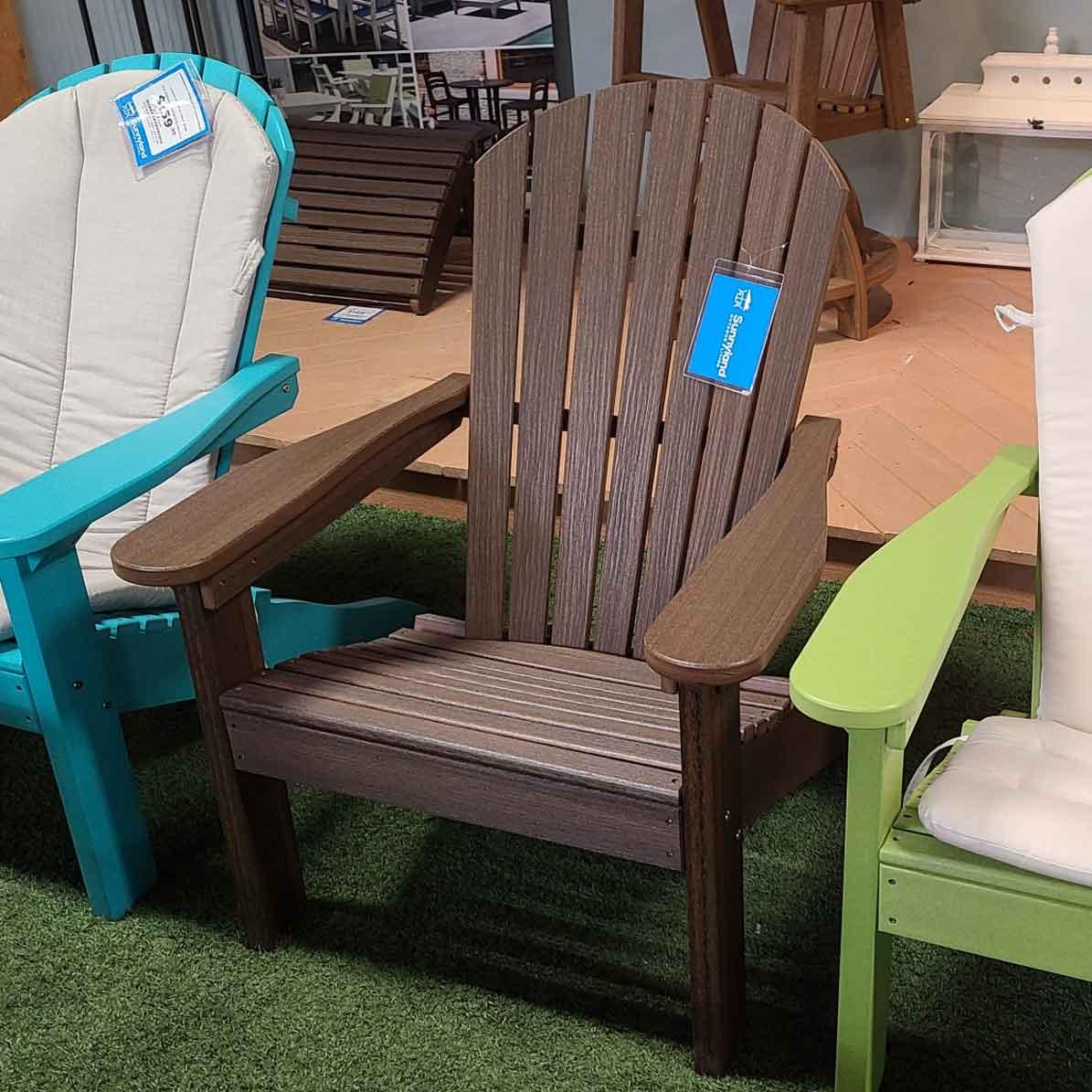 Walnut Adirondack Comfo Back Chair