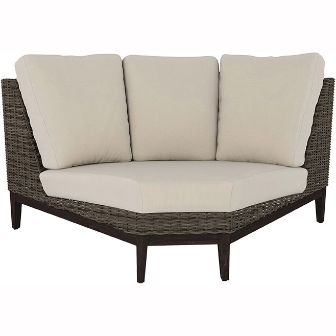 Ebel Remy Woven Cushion 90 Curved Corner Outdoor Furniture