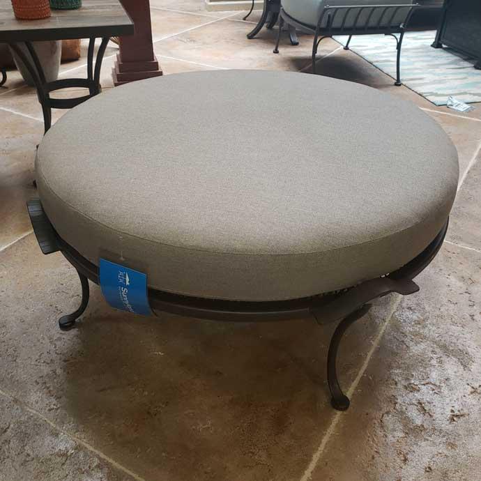 Monterra Cushion Round Ottoman - Sailcloth Shadow