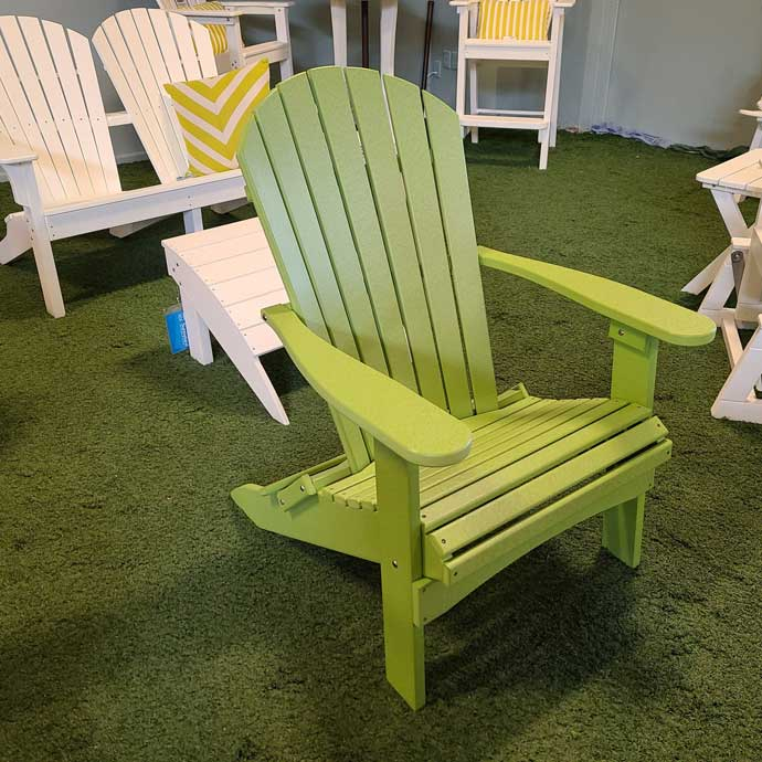 Kiwi Green Folding Adirondack Chair