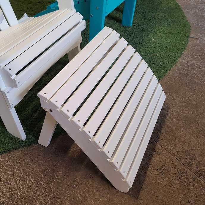 White Adirondack Footstool